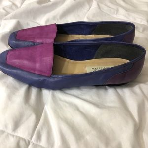 Vintage 9.5 Enzo Angiolini leather purple flats
